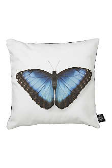 BY NORD Blue butterfly cushion