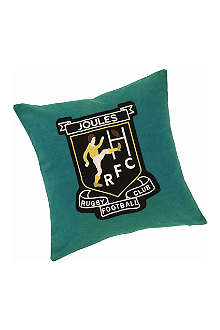JOULES Rugby Badge cushion