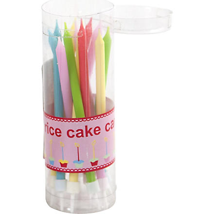 RICE Pack of 20 Cake candles 11cm