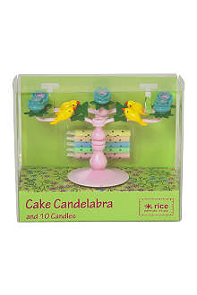 RICE Cake candelabra with 10 cake candles