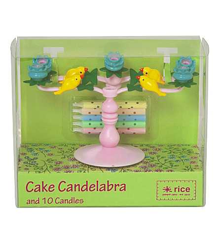 RICE Cake Candelabra With 10 Candles
