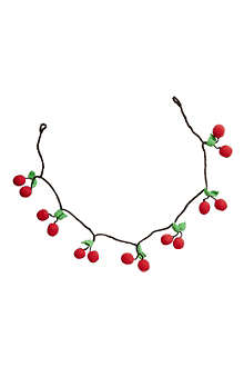 Cherry crocheted garland 1m
