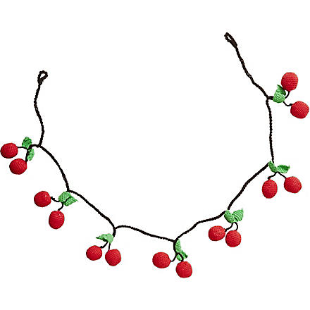 RICE Cherry crocheted garland 1m