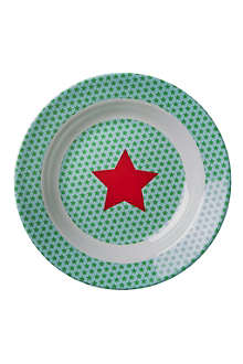 RICE Star-print melamine lunch plate