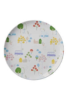 RICE Roadtrip-print melamine lunch plate