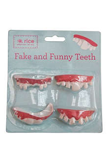 RICE Fake and funny plastic teeth