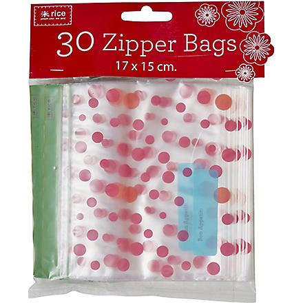 RICE 30 polka-dot medium zipper bags