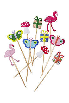 RICE Set of ten decoration cake sticks