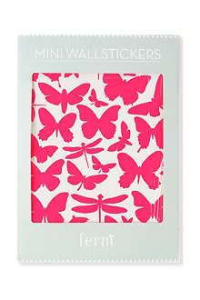 FERM LIVING Mini Butterflies neon wall stickers