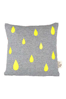 FERM LIVING Raindrops cushion neon