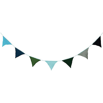 FERM LIVING Happy Flags bunting blue
