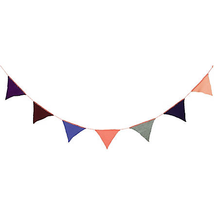 FERM LIVING Happy Flags bunting peach