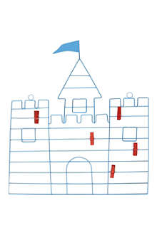 GISELA GRAHAM Castle memo peg board