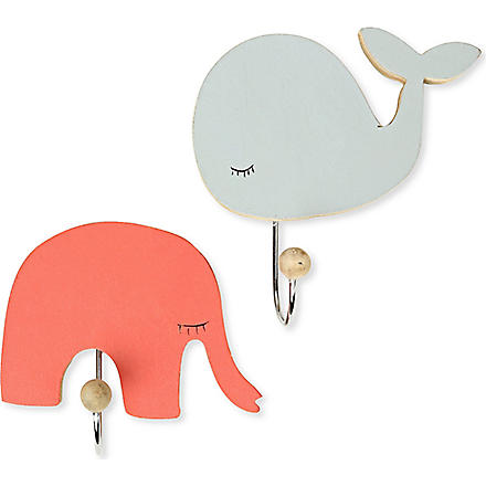 GISELA GRAHAM Animal wooden coat hook
