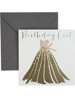 BELLY BUTTON DESIGNS Birthday Girl birthday card