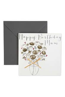 BELLY BUTTON DESIGNS Happy Birthday Mum birthday card