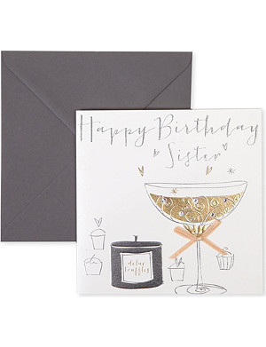 BELLY BUTTON DESIGNS Happy Birthday Sister card