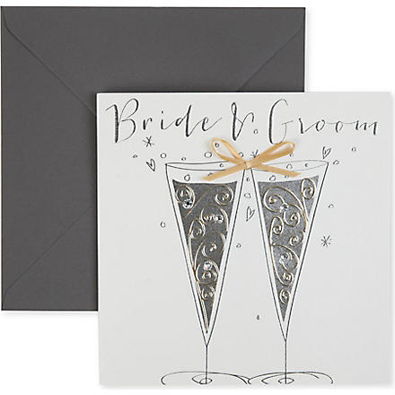 BELLY BUTTON DESIGNS Bride and Groom wedding card