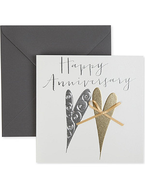 BELLY BUTTON DESIGNS Happy anniversary card