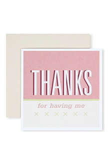 URBAN GRAPHIC 'Thanks for Having Me' card