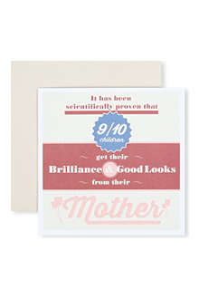 URBAN GRAPHIC 'Brilliance and Good Looks' card