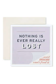 URBAN GRAPHIC 'Nothing is Lost' card
