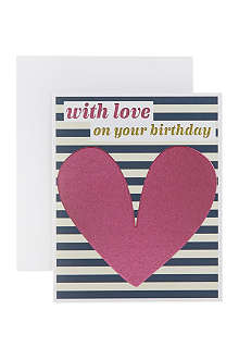 THINK OF ME With love on your birthday cards