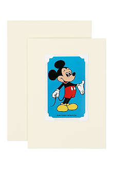 VINTAGE PLAYING CARDS Mickey Mouse greeting card