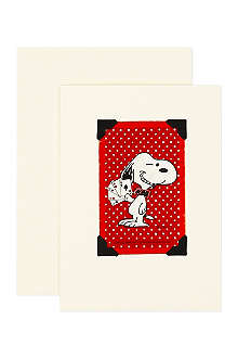 VINTAGE PLAYING CARDS Mounted Snoopy playing card