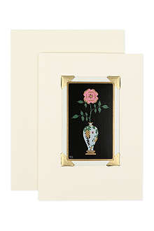 VINTAGE PLAYING CARDS Rose greeting card