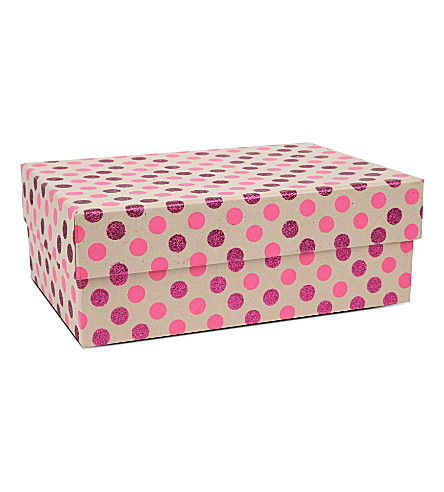 VIVID WRAP Pink spotted craft box
