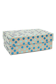 VIVID WRAP Blue polka dot medium craft box