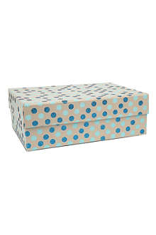 VIVID WRAP Blue polka dot large craft box