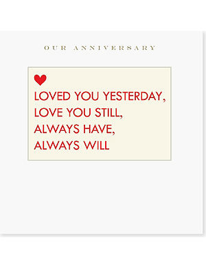 SUSAN O'HANLON Always Have, Always Will Anniversary card