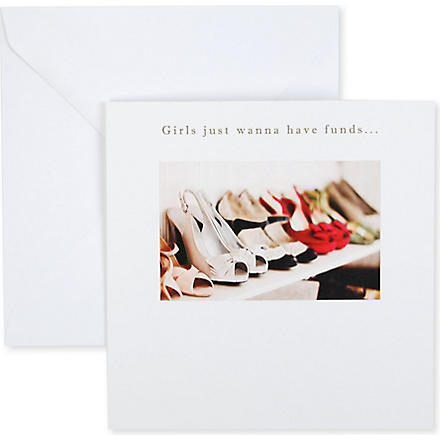 SUSAN O'HANLON Girls Just Wanna Have Funds card