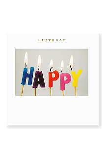 SUSAN O'HANLON Happy Birthday Candles card