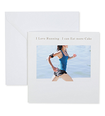 SUSAN O'HANLON I love running... I can eat more cake card
