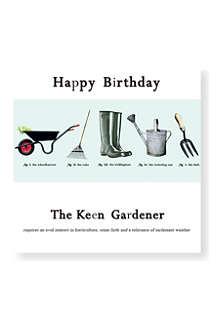 SUSAN O'HANLON Keen gardener birthday card