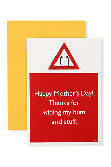 BRAINBOX CANDY Wiping my Bum Mother's Day card