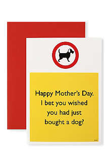 BRAINBOX CANDY Wished You Had Just Bought a Dog Mother's Day card
