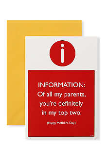 BRAINBOX CANDY Top Two Parents Mother's Day card