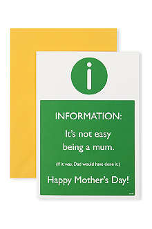 BRAINBOX CANDY It's Not Easy Being a Mum Mother's Day card