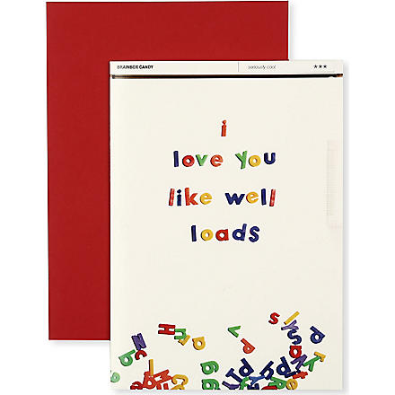 BRAINBOX CANDY I Love You Like Well Loads Valentine's day card