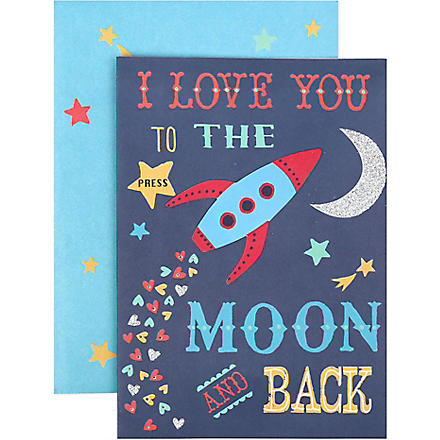 MERI MERI Love you to the moon and back card