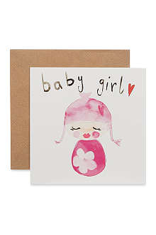 SOOSHICHACHA Baby girl card