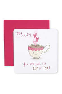 THE GREAT BRITISH CARD COMPANY 'You are just my cup of tea' card