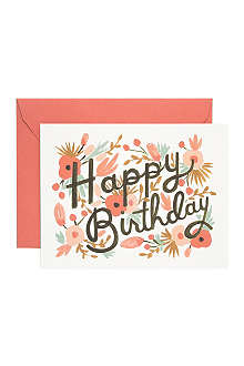 RIFLE PAPER Floral burst birthday card