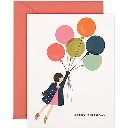 RIFLE PAPER Fly Away birthday card