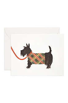 RIFLE PAPER Scottish Terrier card