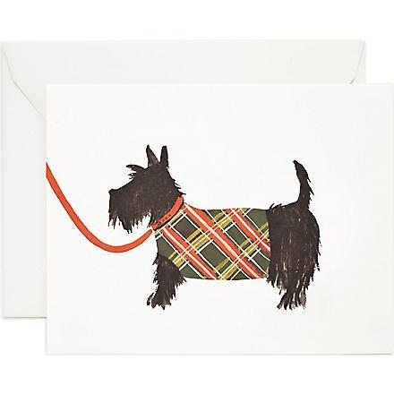 RIFLE PAPER Scottish Terrier card